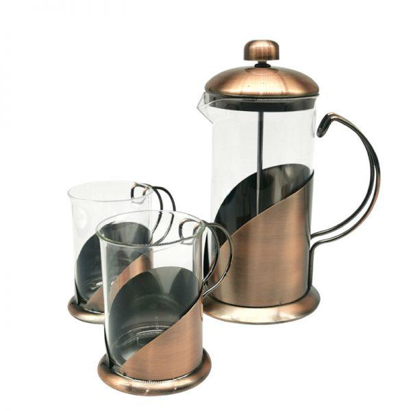 Cafetera francesa cobrizada