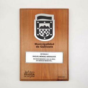 galvano de madera tipo diploma media caña - Empresas ctm