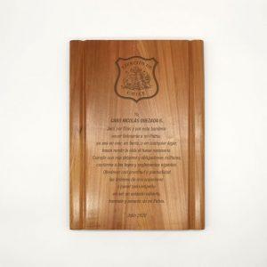 galvano de madera rectangular 19x25 cms- Empresas CTM