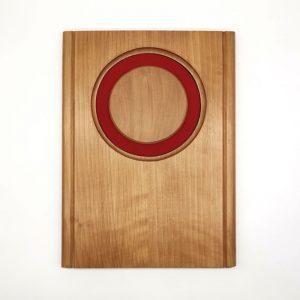 galvano de madera con calado circular 23x31 - Empresas CTM