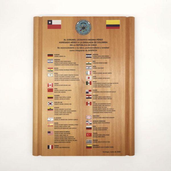 galvano de madera especial color - Empresas ctm