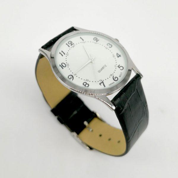 reloj pulsera clásico cromado