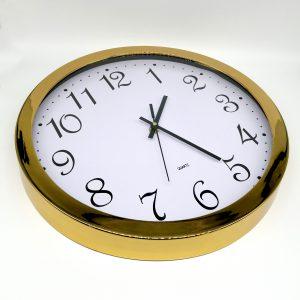 reloj mural cobrizado