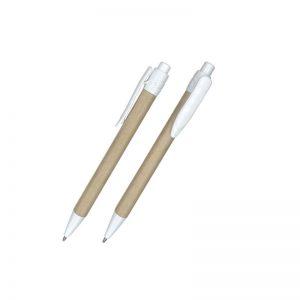 lápiz ecológico con clip blanco
