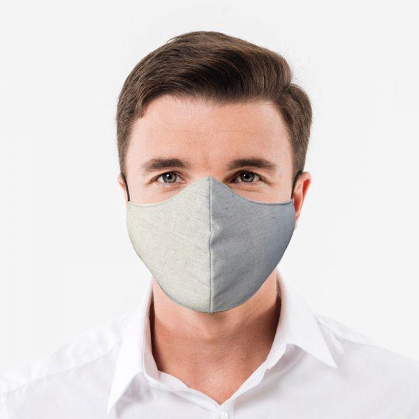 mascarilla con fibra de plata y antifluidos