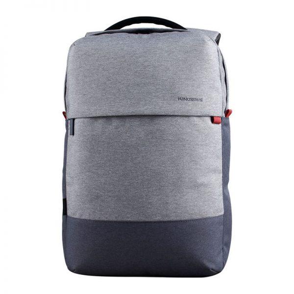 mochila porta notebook bicolor gris kingsons